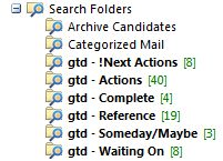 Outlook Search Folders
