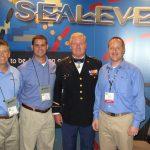 Earle Foster, Marc Foster & Bryan Buchanan met Sgt. Samuel Davis at SOFIC