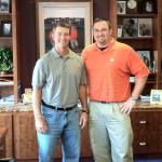 Sealevel's Charlie McKenzie with Clemson University football coach Dabo Swinney