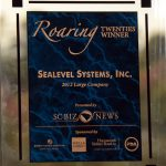 Sealevel received third place in the Roaring Twenties Awards for top performing companies in South Carolina