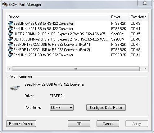 SeaCOM Software Overview - Sealevel