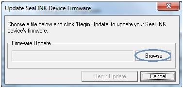 Update SeaLINK Firmware Browse Button
