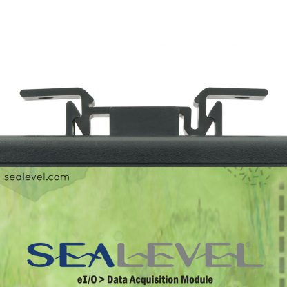 eI/O-170E Top View w/ Removable DIN Rail Mounting Clip