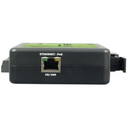 eI/O-110PoE Right View w/ Power Over Ethernet Port
