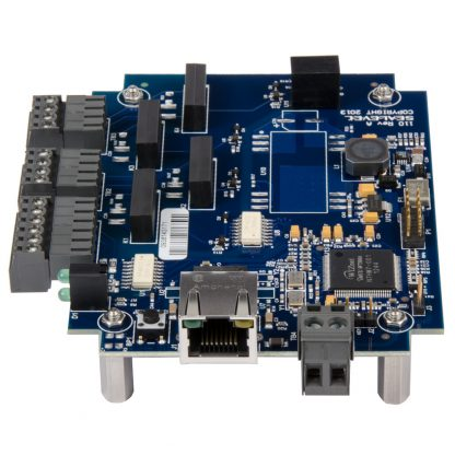 eI/O-110E-OEM Right View w/ Ethernet Port and DC Input via Tool-Free Removable Terminal Block