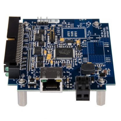 eI/O-160E-OEM Right View w/ Ethernet Port and DC Input via Tool-Free Removable Terminal Block