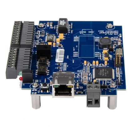 eI/O-170E-OEM Right View w/ Ethernet Port and DC Input via Tool-Free Removable Terminal Block