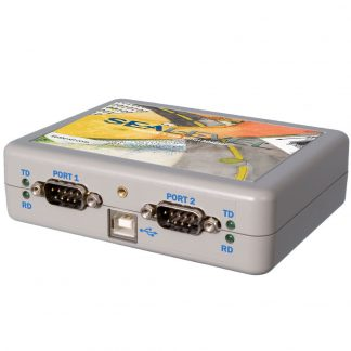 USB to 2-Port Isolated RS-232, RS-422, RS-485 DB9 Serial Interface Adapter