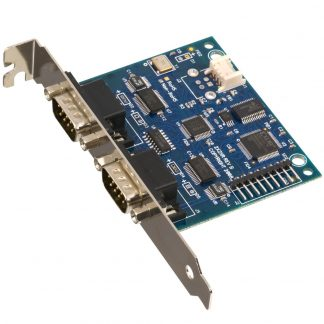 Embedded USB to 2-Port RS-232, RS-422, RS-485 (Software Configurable) DB9 Serial Interface Adapter with PC Bracket