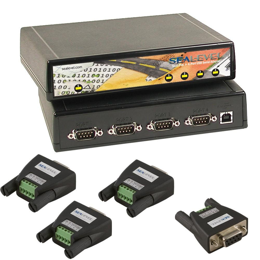2402 w/ Optional RS-485 Terminal Block Adapters (4x Item# TB34)