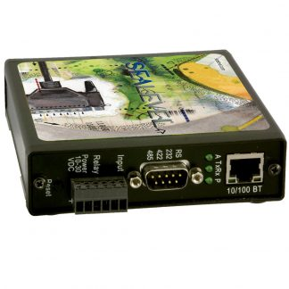 Ethernet to Isolated 1-Port RS-232, RS-422, RS-485 Serial Server with Opto-isolated Input and Reed Relay Output