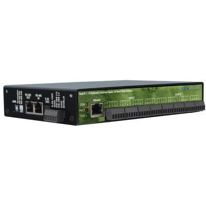Ethernet Modbus TCP to 16 Isolated Inputs / 16 Reed Relay Outputs