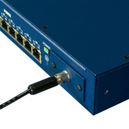 Ethernet to 16-Port RS-232, RS-422, RS-485 Serial Server (4163) - Locking Power Connector