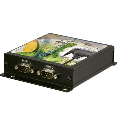 Ethernet to 2-Port RS-232, RS-422, RS-485 Serial Server