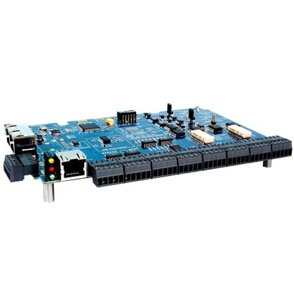 RS-232 Modbus RTU to 16 A/D, 2 D/A, 8 Open-Collector Outputs, 8 Isolated Inputs Multifunction Module