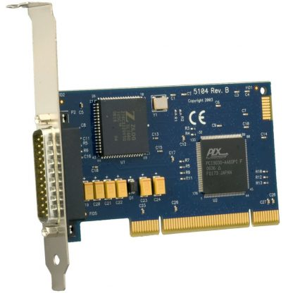 5104 PCI 1-Port RS-232, RS-422, RS-485, RS-530, RS-530A, V.35 Synchronous Serial Interface (uses Z16C32) w/ Standard Profile Bracket