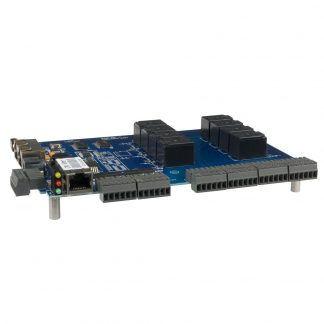 Ethernet Modbus TCP to 8 Isolated Inputs / 8 High-Current Form C Relay Outputs