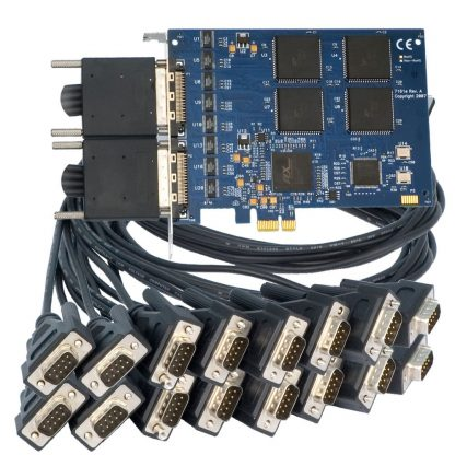 7161e Board with Two Included MDB68 Male to (8) DB9 Male Cables (Item# CA231)