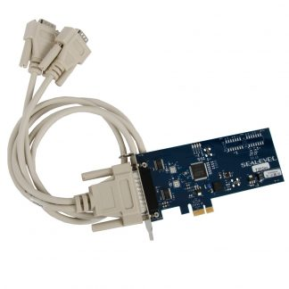 Low Profile PCI Express 2-Port RS-232 Serial Interface