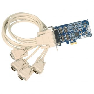 Low Profile PCI Express 4-Port RS-422, RS-485 Serial Interface