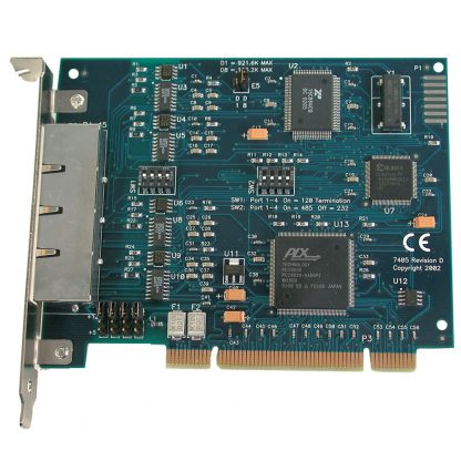 PCI RS-232, RS-485 Serial Interface (RJ45)