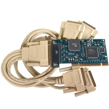 Low Profile PCI 4-Port RS-232 Serial Interface