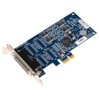 7406e Low Profile PCI Express 4-Port RS-232 Serial Interface