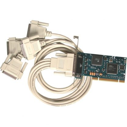 7406 PCI 4-Port RS-232 Serial Interface w/ Standard Profile Bracket and Included DB44 Male to (4) DB25 Male Cable (Item# CA199)
