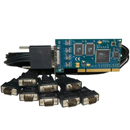 7803 Low Profile PCI 8-Port RS-232 Serial Interface w/ Optional MDB68 Male to (8) DB9 Male Cable (Item# CA231)