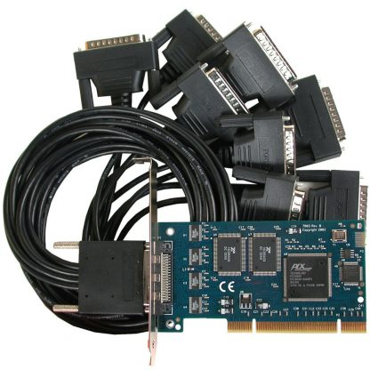 7803 PCI 8-Port RS-232 Serial Interface w/ Standard Profile Bracket and Included MDB68 Male to (8) DB25 Male Cable (Item# CA202)