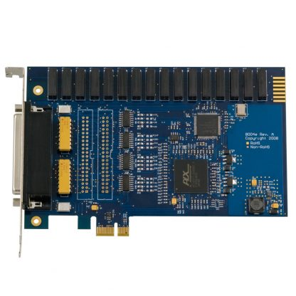 PCI Express 16 Reed Relay Output / 16 Isolated Input Digital Interface