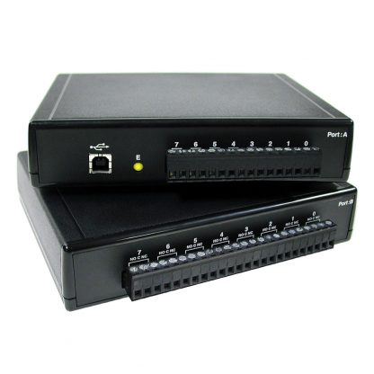 USB to 8 Optically Isolated Inputs / 8 Form C Relay Outputs Digital Interface Adapter