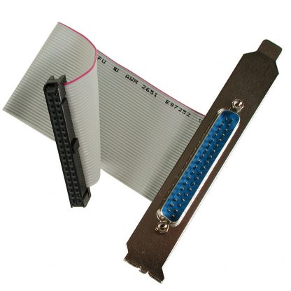 40-Pin IDC Ribbon Cable to DB37 Male with PC Bracket, 6 inch Length