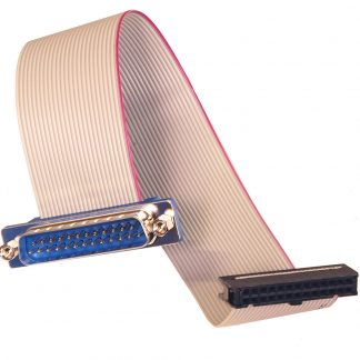 26-Pin IDC Ribbon Cable to DB25 Male, 8 inch Length