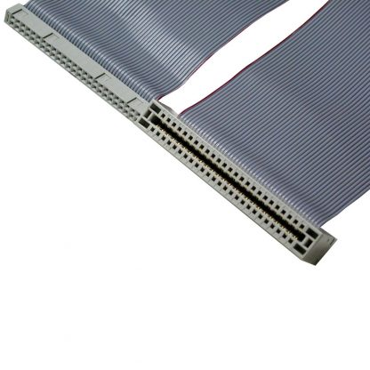 50-Pin IDC to 50-Pin Edge Connector Ribbon Cable, 40 inch Length