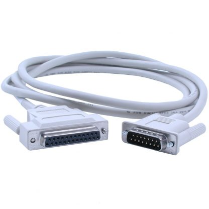 DB25 Female (RS-530) to DB15 Male (X.21) Cable, 72 inch Length
