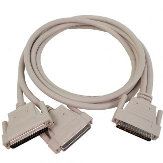 DB78 Male to (1) DB37 Female (Input) and (1) DB37 Male (Output) Cable, 72 inch Length - for 8004