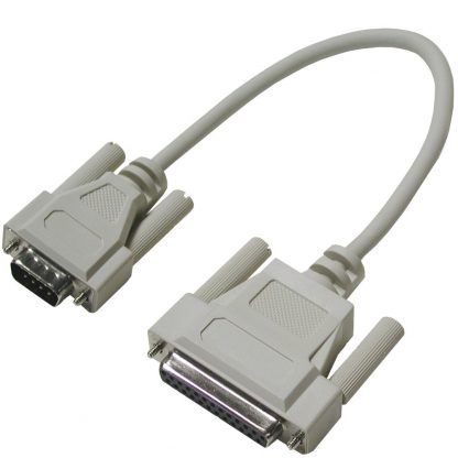 DB25 Female (RS-530) to DB9 Male (RS-422) Cable, 10 inch Length