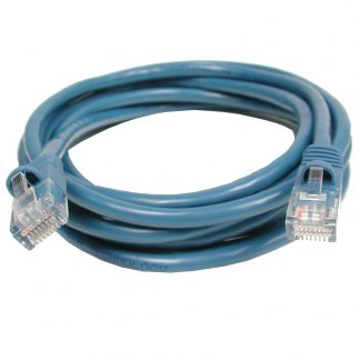 CAT5 Patch Cable, 10 foot Length - Blue