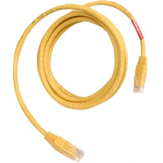 CAT5 Crossover Cable, 7 foot Length - Yellow