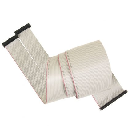(2) 26-Pin IDC to 50-Pin IDC Ribbon Cable, 40 inch Length - for 8018
