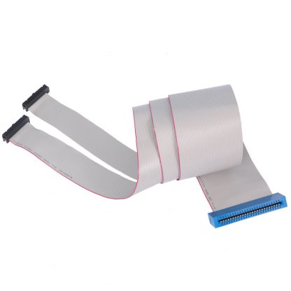 (2) 26-Pin IDC to 50-Pin Edge Connector Ribbon Cable, 40 inch Length