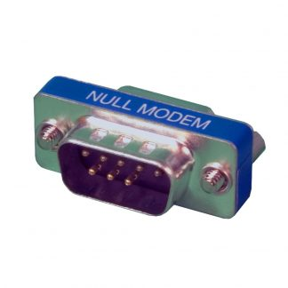 DB9 Male to DB9 Female Low Profile Null Modem Adapter
