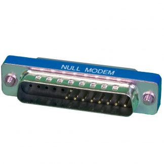 DB25 Male to DB25 Female Low Profile Null Modem Adapter