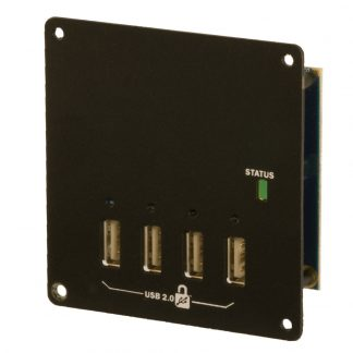 iPortholes High Speed 4-Port USB 2.0 Hub with Battery Charging Downstream Ports and SeaLATCH Locking USB Ports