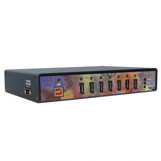 High Speed 7-Port USB 2.0 Hub with SeaLATCH USB Ports