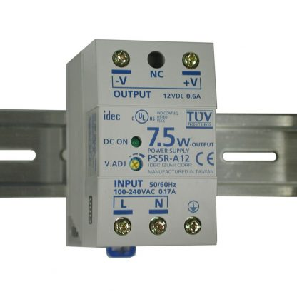 100-240VAC to 12VDC @ 600mA, DIN Rail Power Supply