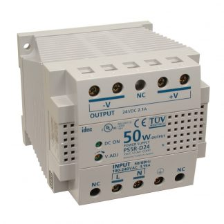 100-240VAC to 24VDC @ 2.1A, DIN Rail Power Supply