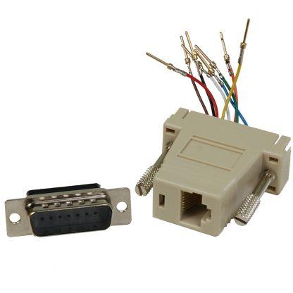 DB15 Male to RJ45 Modular Adapter