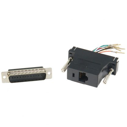 DB25 Male to RJ45 Modular Adapter